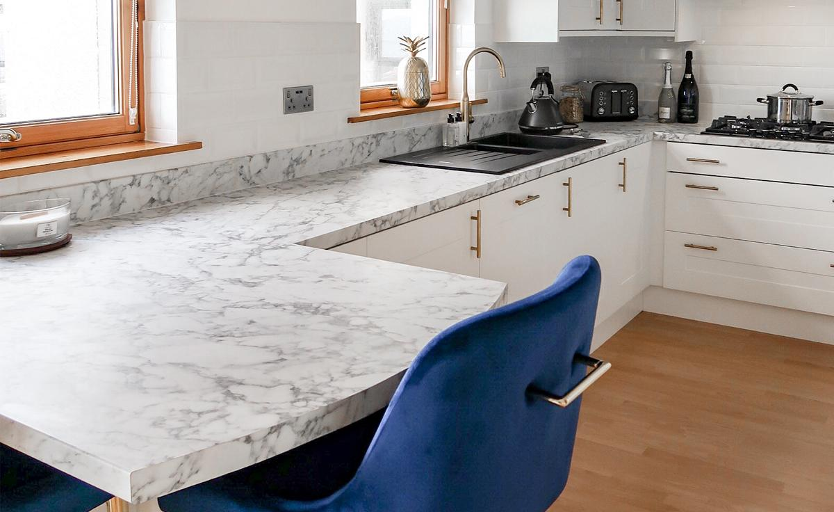 From Virtual to Reality with Bushboard Options Turin Marble