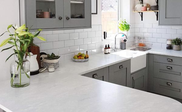 Encore Worktops in a Stylish Family Home