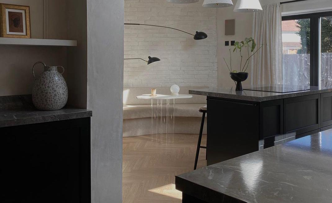 Influencer Approved: Marble Effect Laminates in a Parisian-Chic Kitchen Makeover
