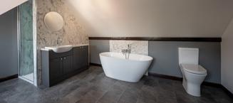 Luxury in Marmo Bianco by Norwich Bathrooms & Kitchens