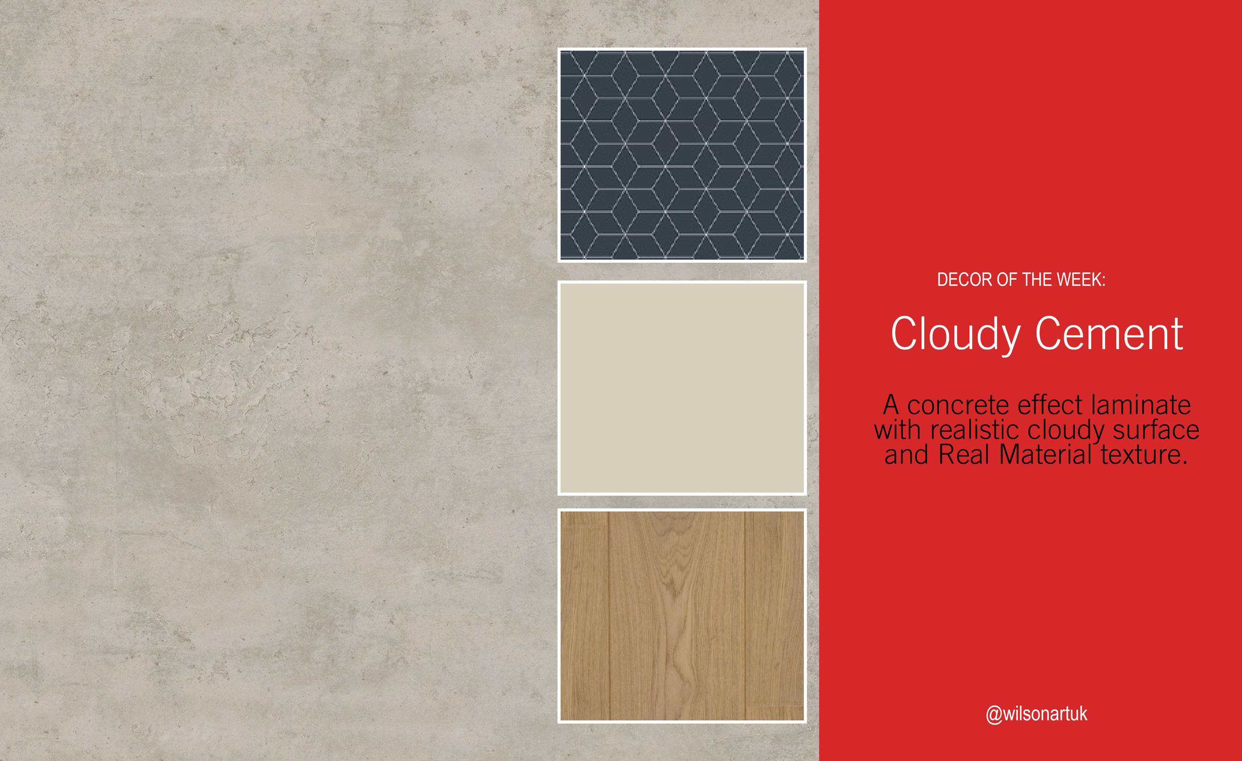 Decor of the Week: Cloudy Cement