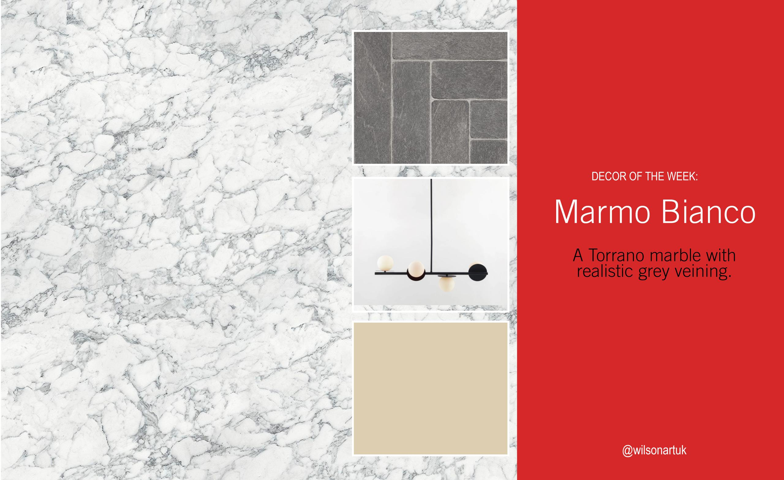 Decor of the Week: Marmo Bianco