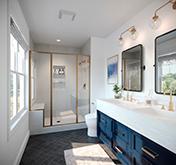 Bright Solid Surface Bathroom