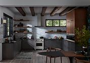 Contrast and Texture Kitchen with Laminate Cabinet Fronts