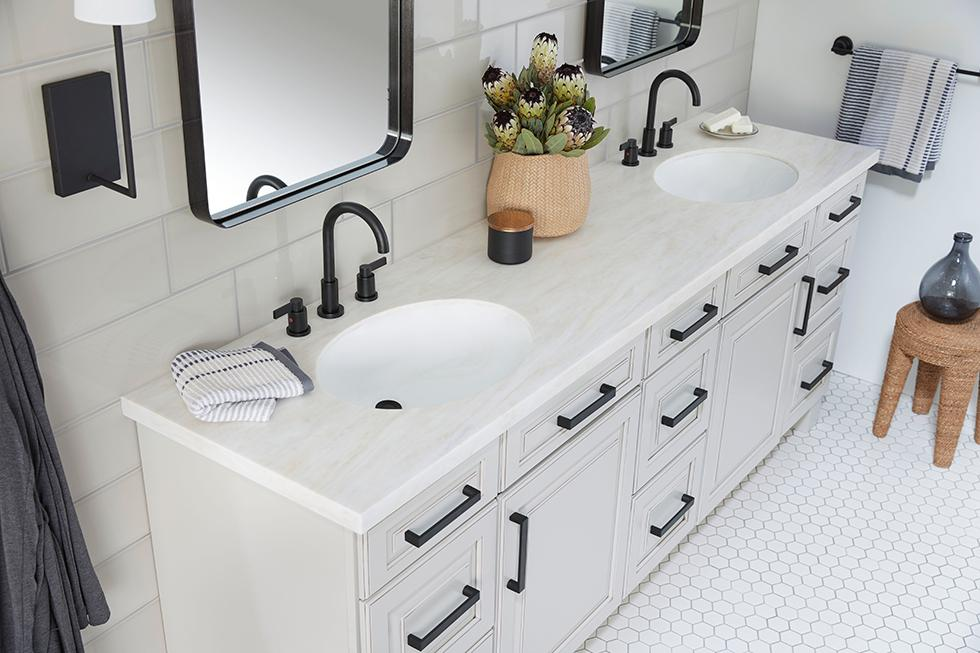 Solid Surface Double Vanity Top