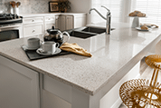 Light Neutrals Kitchen with Quarts Countertop
