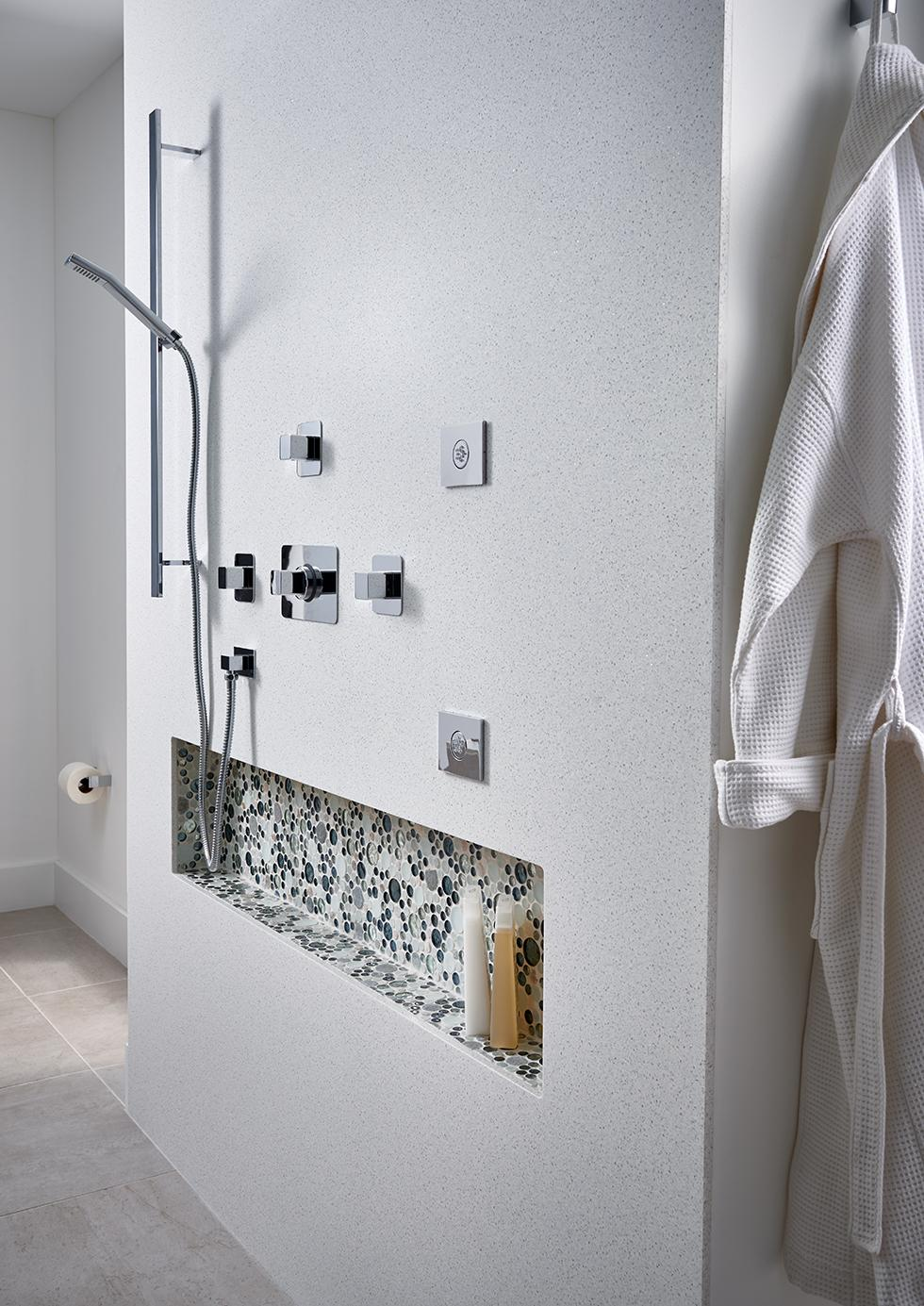 Solid Surface Shower Wall