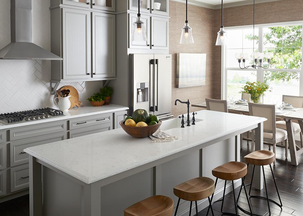 Light Casual Kitchen with Quartz Countertop