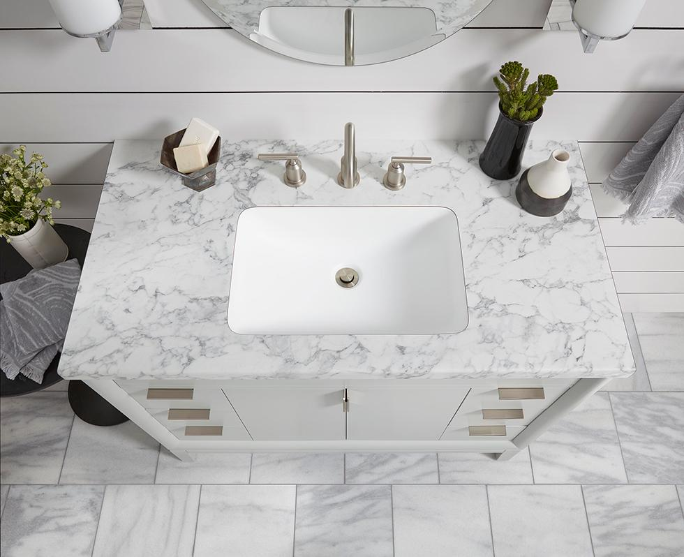 Light and Bright Bath with Laminate Vanity Top