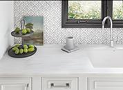 Travertine Solid Surface Kitchen Countertop