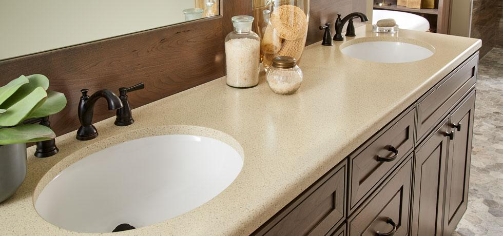 Champagne Ice | Solid Surface Bath | the look of quartz with a touch of sparkle from mirror chips