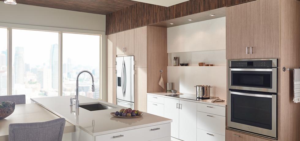 Engineered Surfaces Quartz and Laminate Kitchen