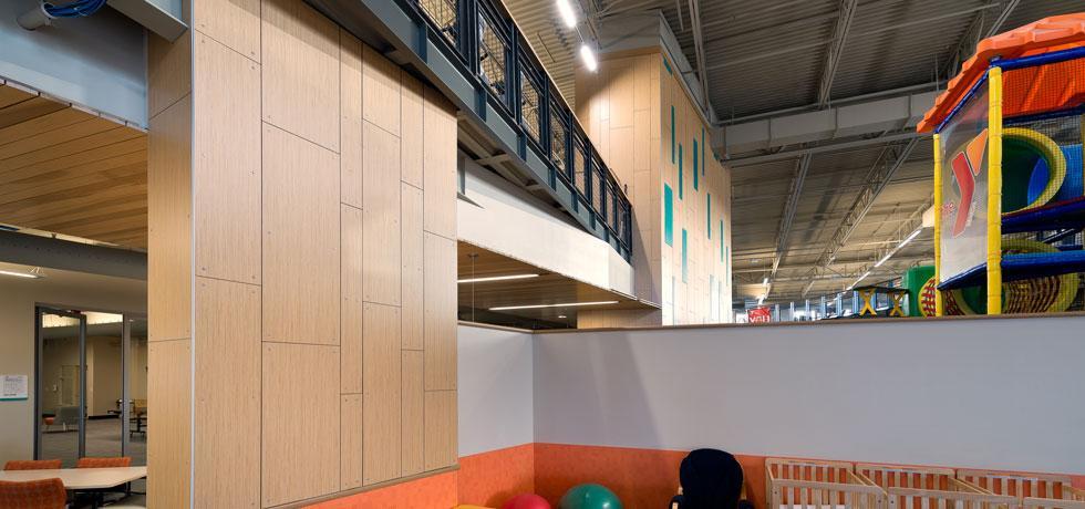 Gordon Family YMCA Compact Laminate Walls