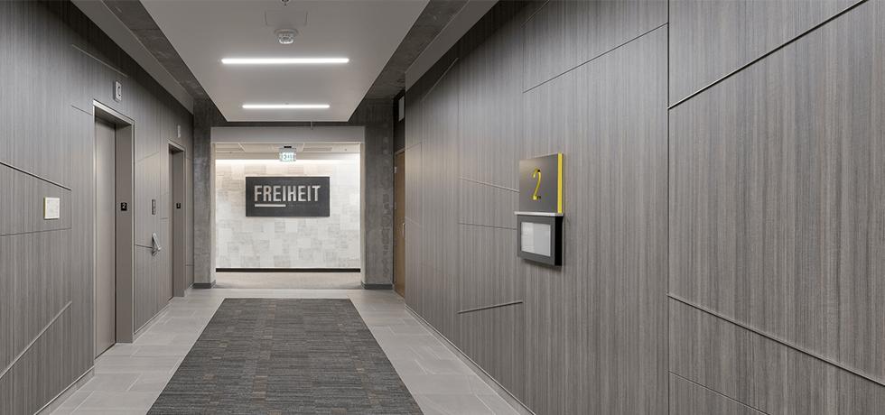 Modern Office | High Pressure Laminate in Studio Teak