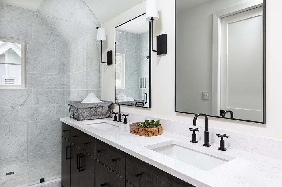 Serenbe House Double Vanity with Quartz Countertop