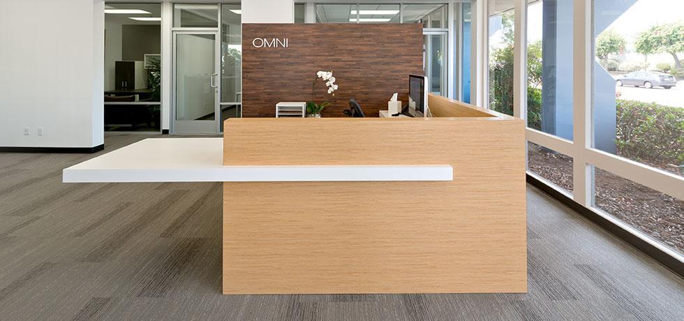 Omni Pacific Reception Desk