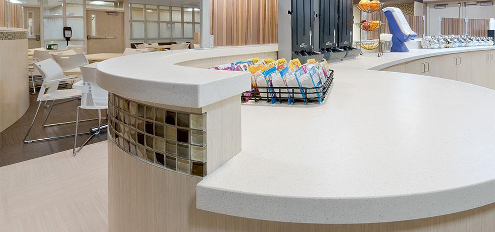 Our Lady of Consolation | Rounded Cafeteria Counter