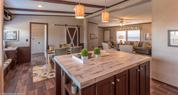 Palm Harbor Home - Lace Gesso Wood Island