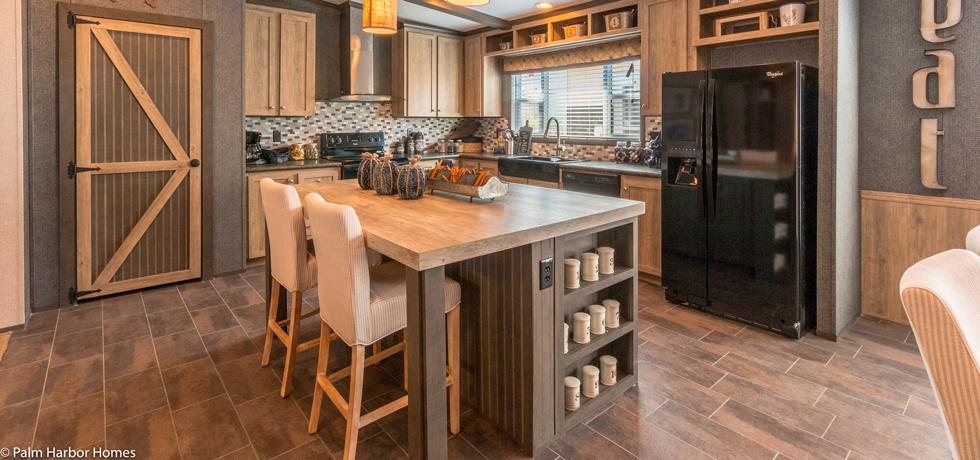 Palm Harbor Home - Mill Antique Wood Island
