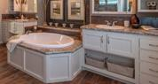 Palm Harbor Home Bathroom with Autumn Carnival Vanity