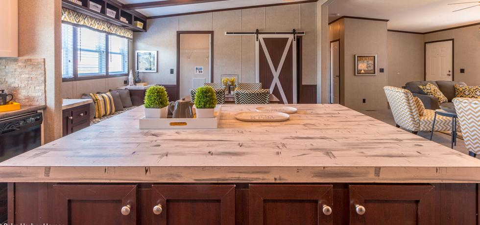 Palm Harbor Home Island - Lace Gesso Wood