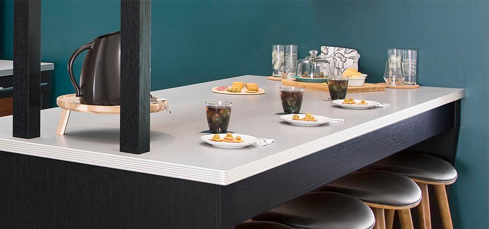 Retro Modern Residential Kitchen | Laminate Countertops