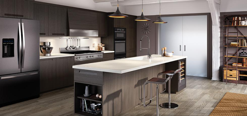 Solid Surface and Laminate Kitchen