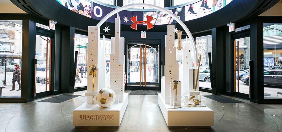 Under Armour Chicago   Holiday Display