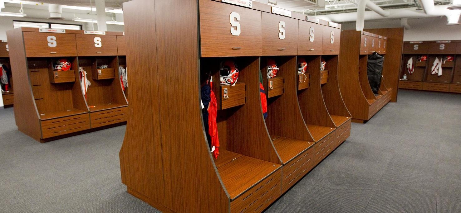 Burnished Cherry - Syracuse University Athletic locker room