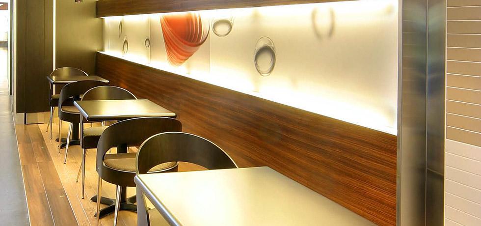 Dark Zebrano Trudeau Airport Boulevard Café