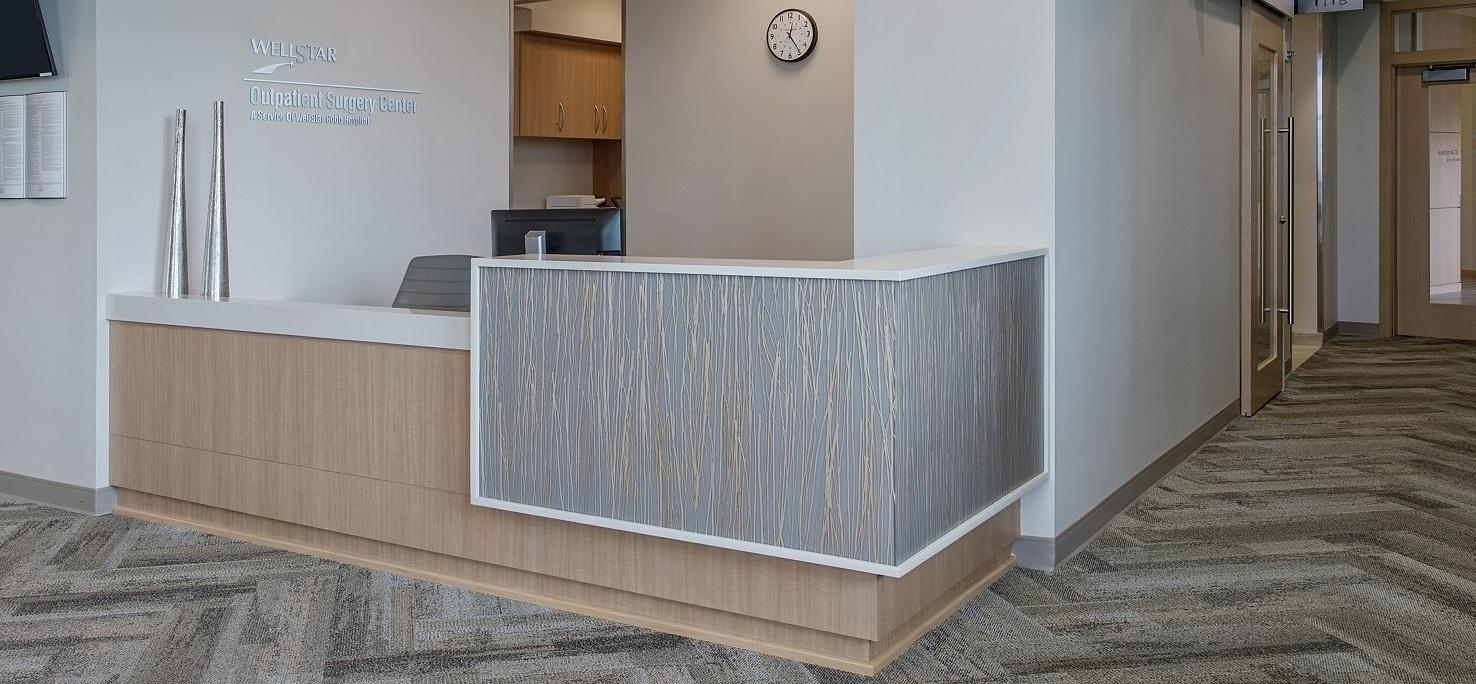 Natural Crossfire Pear - Wellstar Vinings Medical Center - front desk