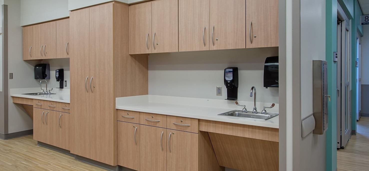 Natural Crossfire Pear - Wellstar Vinings Medical Center - nurse station