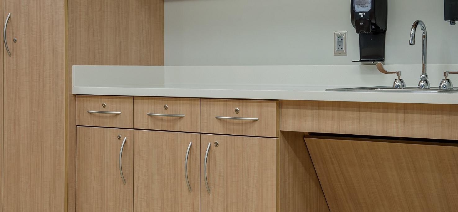 Natural Crossfire Pear - Wellstar Vinings Medical Center - Nurse station detail