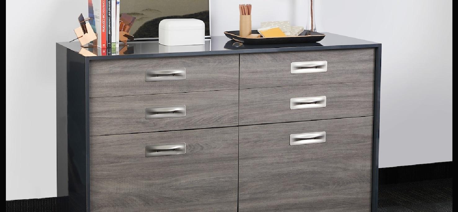 Dusky Glamour Oak Office cabinet